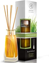 AROMATIKA Lemongrass Diffuser w/Lemongrass Oil 100ml - Scented Reed Diffuser - 0% Alcohol - Diffuser Gift Set - Best for Aromatherapy - Room Air Fresheners - Lemongrass Essential Oil Diffuser