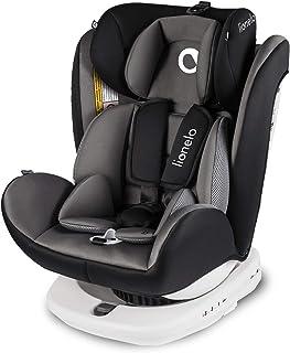 Lionelo Bastiaan Kindersitz Auto Kindersitz Isofix und Top Tether Kindersitz Drehbar um 360 Grad Autositz Gruppe 0 1 2 3 ab Geburt bis 36 kg TÜV SÜD ECE R 44 04 Grau