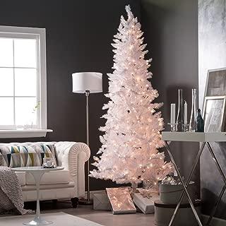 Sterling 7.5' White Tiffany Tnsl Tree Home Decor, 44InL x 44InW x 96InH,