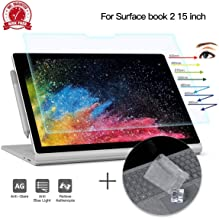 CaseBuy Surface Book 2 Screen Protector 15 inch Anti Glare Blue Light Filter for Microsoft Surface Book 2 15 inch with Keyboard Cover Ultra Thin TPU Protector