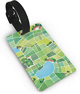CoolToiletLidCoverCC Luggage Tags Holders for Travel Luggage, Luggage Tags for Suitcases, Field Painting Plastic PVC Luggage Tags Suitcase Labels Travel Bag ID Tags Size 2.2