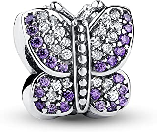 The Kiss Good to Bee Queen Springtime Flower Garden Butterfly Dragonfly 925 Sterling Silver Bead Fits European Charm Bracelet