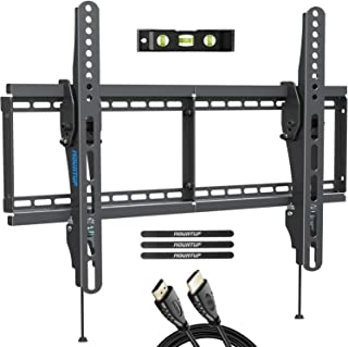 MOUNTUP TV Wall Mount, Tilting TV Mount Bracket for Most 37-70 Inch Flat Screen/Curved TVs, Low Profile Wall Mount with Ma...