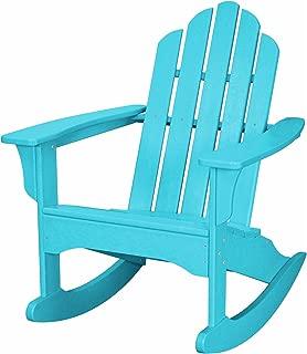 Hanover Outdoor Furniture HVLNR10AR All Weather Contoured Adirondack Rocking Chair, Aruba