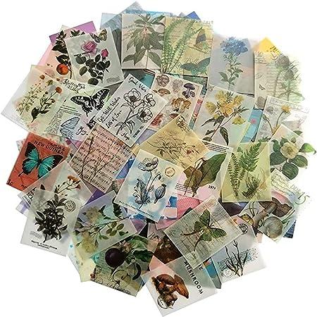366 feuilles de scrapbooking vintage non répétitif pour album d'écriture bricolage artisanat quotidien recadrée rétro Scrapbook journal intime matériel fait à la main papier de soie déchiqueté