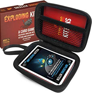 FitSand (TM) Carry Travel Zipper EVA Hard Case for A Card Game About Kittens and Explosions and Sometimes Goats - Black Box, Blacker Box, Best Protection for Kittens