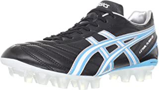 ASICS Women's Lethal Flash DS IT Soccer Shoe,Black/Blue Jewel/White,12 M US