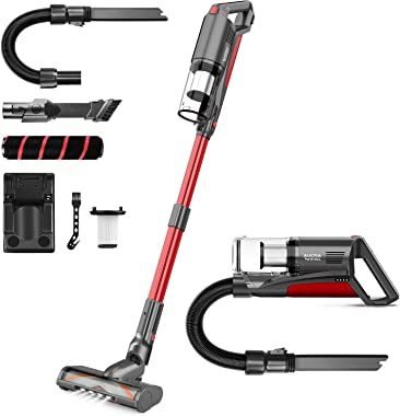Cordless Vacuum Cleaner, Aucma by whall 21000pa 5 in 1 Cordless Stick Vacuum Cleaner,250W Brushless Motor,up to 53 Mins Runti