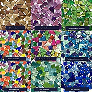 ASSR Lot de 570carreaux de mosaïque faits à la main pour enfants Couleurs et formes mixtes s Mélange de poudre.
