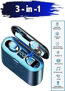 Auriculares Bluetooth con Micrófono BuBu Auriculares Inalámbricos Bluetooth 5.0 Cascos con Microfono 3en1 Mini Twins Estéreo Deporte