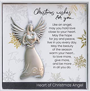 The Grandparent Gift Co. Beautiful Love Angel with Christmas Wishes for Family and Friends