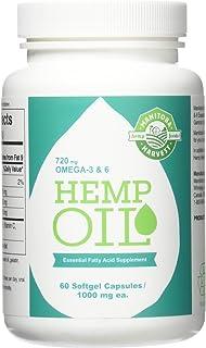 Hemp Seed Oil, 1000Mg Ea, 60 Sgel Pack Of 4