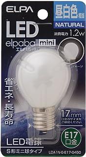 ELPA エルパ LED電球S形E17 昼白色 屋内用 省エネタイプ LDA1N-G-E17-G450