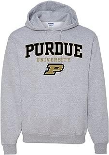 University Book Store Purdue Boilermakers Oxford Gray Hooded Sweatshirt