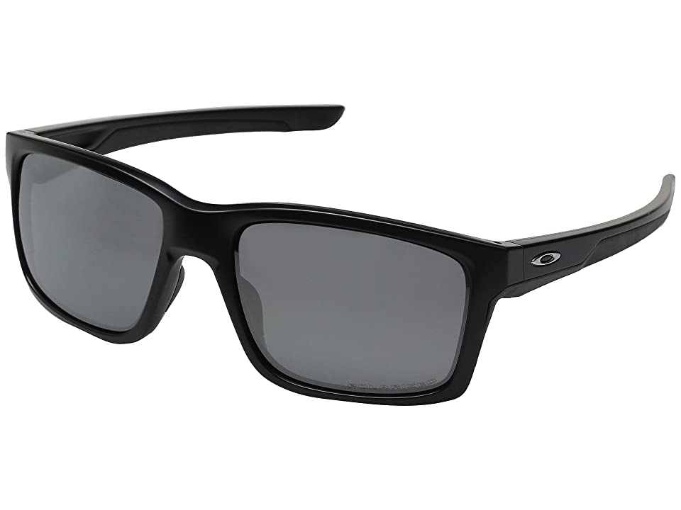 Oakley Mainlink (Matte Black/Black Iridium Polarized) Plastic Frame Fashion Sunglasses