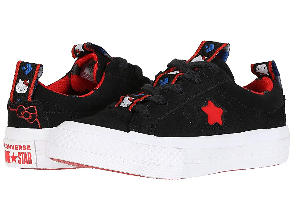 Converse Kids Hello Kitty(r) One Star Ox (Little Kid) (Black) Girls Shoes