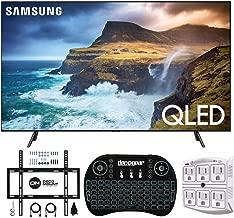 "$2847 » Samsung QN85Q70RA 85"" Q70 QLED Smart 4K UHD TV (2019 Model) - (Renewed) w/Flat Wall Mount Kit Bundle for 45-90 TVs + 2.4GHz Wireless Backlit Keyboard Smart Remote + 6-Outlet Surge Adapter"