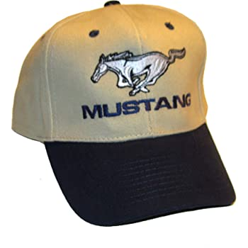 Ford Mustang Gray//White//Navy Hat Cap Bundle with Driving Style Decal