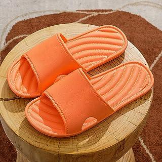 シャワーサンダルスリッパ オレンジ,女性の夏の家庭用ソフトソールサンダル、男性用の屋内厚手のゲスト用バスルームスリッパ 260-265