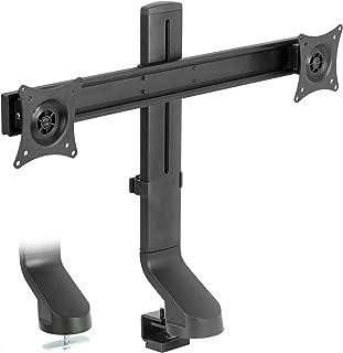 VIVO soporte de monitor ajustable negro para convertidor de computadora para estación de trabajo, Negro, Dual