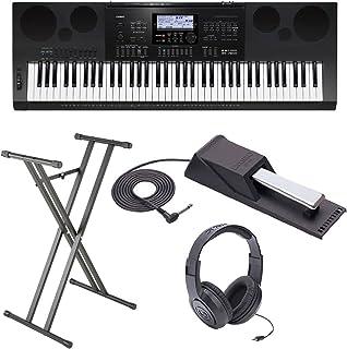 Casio WK7600 Workstation Keyboard w/ Stand, Sustain Pedal, a