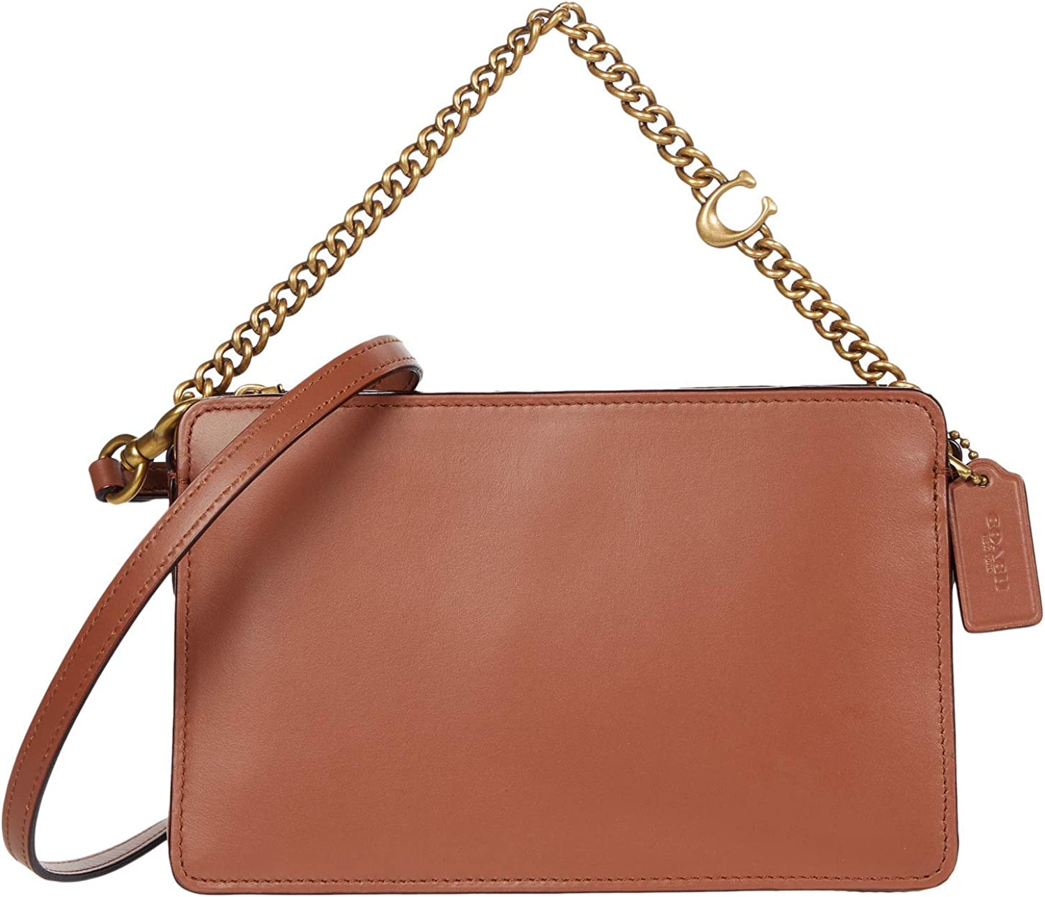 Super Special SALE held COACH Refined Calf Leather Chain Signature Challenge the lowest price Crossbody