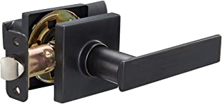 Best Amazon Basics Contemporary Stamford Door Lever, Passage, Oil Rubbed Bronze Review