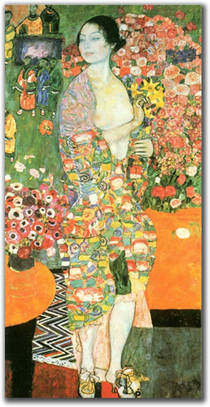 Poster Print Famous Painting All stores are sold The Nude Can Dancer By OFFicial shop Klimt Gustav
