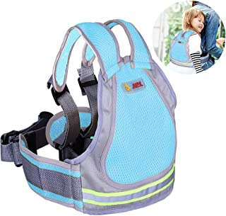 Jolik Child Motorcycle Safety Harness Reflective Strip with 4-in-1 Buckle, Breathable Material - Blue