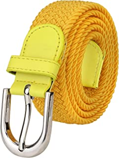 8f9c5d51646 Falari Men Women Canvas Elastic Fabric Woven Stretch Braided Belt - 21  Variety Colors