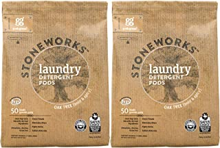 Grab Green Stoneworks Laundry Detergent Pods, Powered by Naturally-Derived Plant & Mineral-Based Powder Pods, Oak Tree, 50...