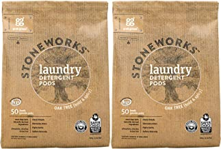 Grab Green Stoneworks Laundry Detergent Pods, Powered by Naturally-Derived Plant & Mineral-Based Powder Pods, Oak Tree, 50 Loads, 2-Pack—EPA Safer Choice Certified