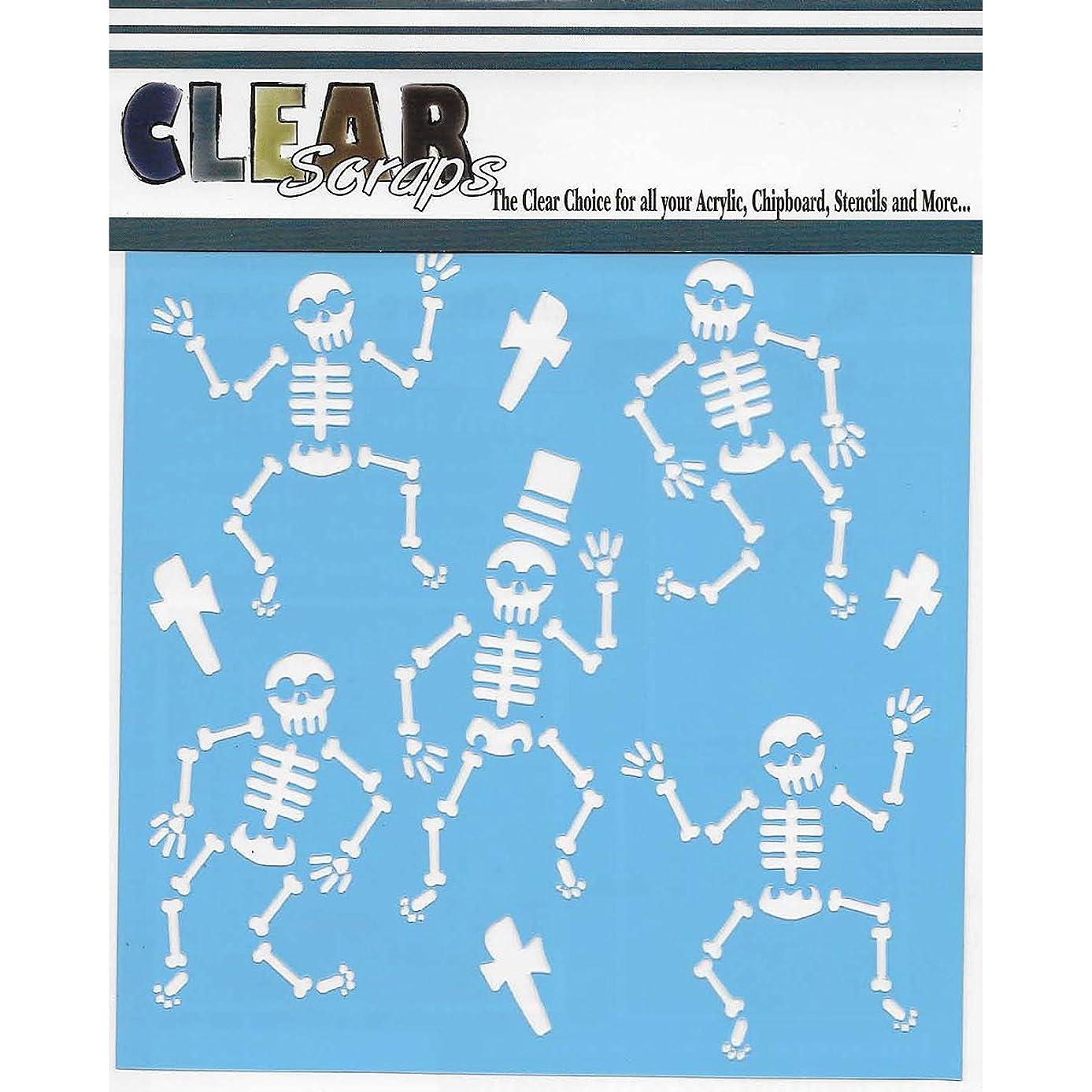 Clear Scraps Stencils 12