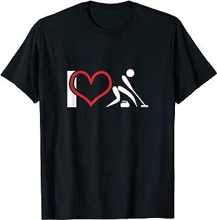 I Love Curling - Statement Fun T-Shirt