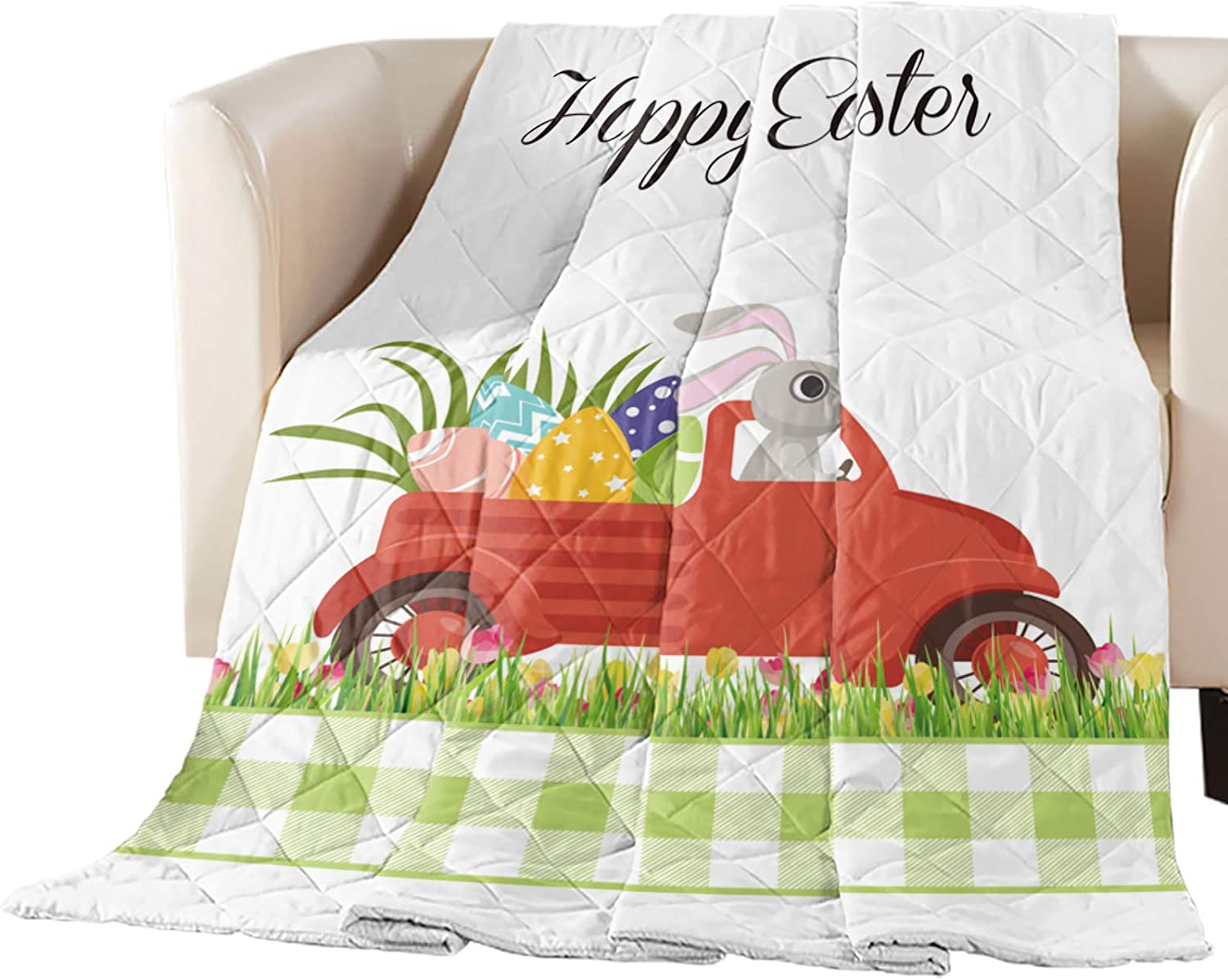 New arrival Comforter Easy-to-use Duvet Insert Home Quilt Easter Bunny Truc Happy Drives
