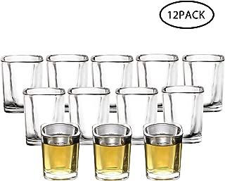 RUCKAE 12-Pack Heavy Base Shot Glasses,2-Ounce Clear Shot Glasses Set