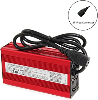 84V 3A Charger 72V Li-ion Battery Smart Charger Used for 20S 72V Li-ion Battery High Power with Fan Red Aluminum Case (84V3A 3P-Plug)