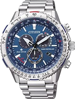 Citizen Mens Solar Powered Watch, Analog Display and Stainless Steel Strap CB5000-50L