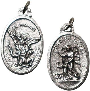 comprar comparacion Eurofusioni Medalla chapeada Plata San Miguel Arcángel y Ángel guardián - 10 Piezas