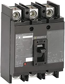 New Square D QBL32100 Circuit Breaker PowerPact 3 Pole 100A 240V 10kA QBL