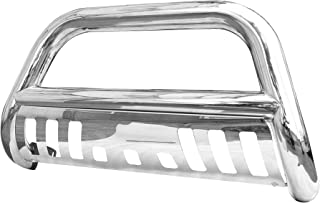 CAREPAIR Bull Bar Skid Plate Front Push Bumper Grille Guard Stainless Steel Chrome for 2001-2007 Toyota Sequoia 1999-2006 Toyota Tundra