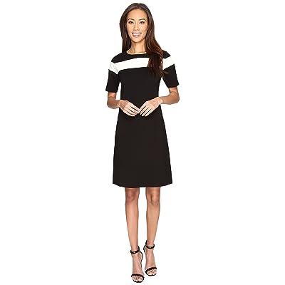 Pendleton Colorblock Dress (Black Ponte) Women