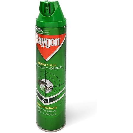 Baygon - Insecticida contra cucarachas y hormigas, Formula Plus, acción rápida y efecto duradero, 400ml