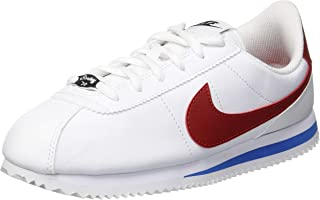 Nike Australia Cortez Basic SL Boys Trainers, White/Varsity Red-Varsity Royal-Black, 3.5 US