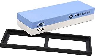 Kota Japan Combination Dual Sided 2000-5000 Grit Diamond Knife Sharpener Whetstone | Water Stone Kit for Coarse Sharpening & Fine Polishing