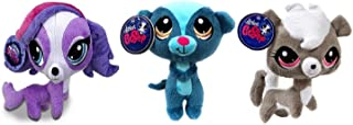 Littlest Pet Shop 6 Inch Plush Pet Figures Zoe Trent Dog/Sunil Nevla Mongoose/Pepper Clark Skunk