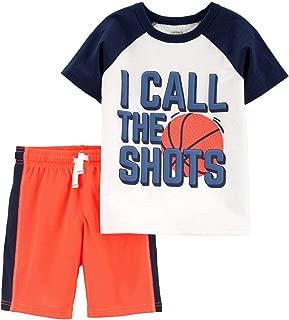 Carter's Infant Baby Boys Outfit Orange Basketball Shirt & Shorts Set