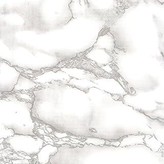 Venilia Klebefolie Marmor Grau 45 cm x 200 cm Adhesiva Mármol Muebles, Decorativa, lámina autoadhesiva, sin ftalatos, Gris, 2m, Grosor: 0,095 mm, 53357, PVC, 45 cm x 2 m
