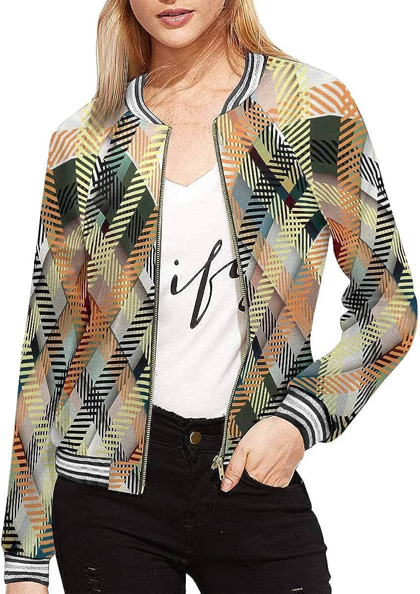 InterestPrint Women's Butterflies Stand Collar Long Sleeve Jacket