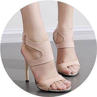 2d644485cf71 Womens sandalsSolid Open Toe Stiletto Heels Shoes Sandals for Women